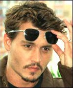 Johnny Depp picture with sunglasses