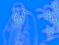 A neon represenation of Huang Di, the Yellow Emperor, whose Internal Classic of Medicine (third millenium B.C.E.) is one of the most direct sources for Oriental Medicine.