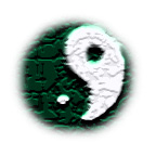 The tai chi tu, an ancient symbol depicting the relationship between yin and yang.  Notice the yang within the yin, and the yin within the yang.  yang is white, yin is black.